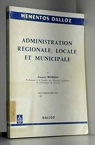 Administration régionale, locale et municipale
