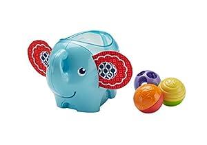 Fisher-Price Elefantito pelotitas, juguete para bebé +3 meses (Mattel DYW57)