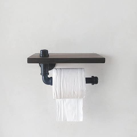 THk&M Rack Toilet Paper Holder Water Pipe style American Rustic