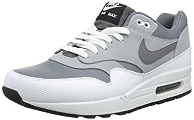 Nike Air Max 1 Leather, Sneakers Basses Homme - Gris (Cool Grey/Wolf Grey/White), 45.5 EU (10.5 UK)