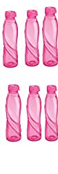 Milton VOLGA 1000 Set of 6pcs Refrigerator Save Water Bottle pink / Green/ Blue/Red