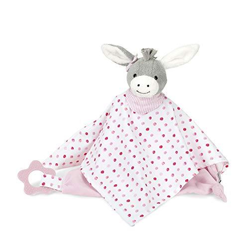 Sterntaler Kuscheltuch Emmi Girl, Alter: Für Babys ab dem 1. Monat, Größe: 34 cm, Farbe: Rosa/Weiß/Grau