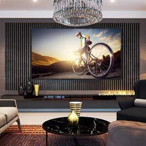 MapleTrack Faltbare Projektions-Leinwand - 4k 120 Zoll 16:9 HD faltbar Anti-Falten Tragbare Projektor-Leinwand für Heimkino, drinnen oder draußen, leicht von MapleTrack