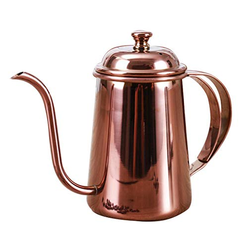 Pour Over Kaffeebereiter, French Press 650ML Premium Edelstahl Kaffeekanne, Elegante Kaffeekanne Mit...