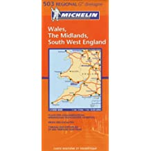 Carte RGIONAL Wales, The Midlands, South West England