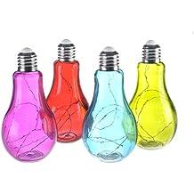LED Glühbirne Retro Glas silber gold mit Draht Lichterkette Birne Bauernsilber