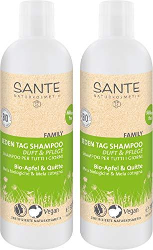 SANTE Naturkosmetik Jeden Tag Shampoo Bio-Apfel & Quitte, Fruchtiger Duft, Tägliche Haarpflege, Vegan, 300ml