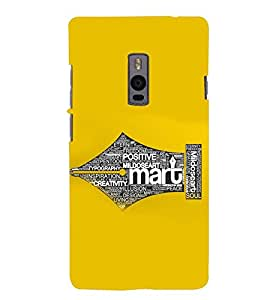PRINTSWAG TYPOGRAPHY Designer Back Cover Case for ONE PLUS TWO