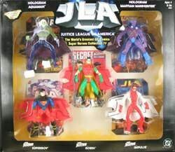 JLA: Justice League of America Worlds Greatest DC Super Heroes - Young Justice ROBIN, Younge Justice SUPERBOY, Young Justice IMPULSE, Hologram AQUAMAN, and Hologram MARTIAN MANHUNTER Collection 5 Box Set Action Figure Multi-pack by JLA: Justice League of America Worlds Greatest DC (Robin Justice Young)