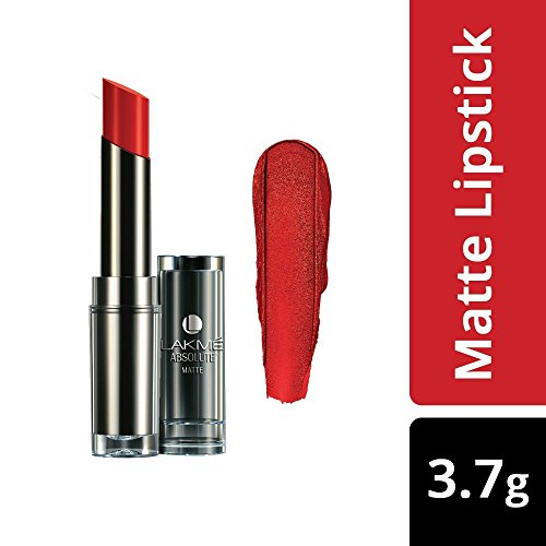 Lakme Absolute Matte Lipstick, Red Envy, 3.7g