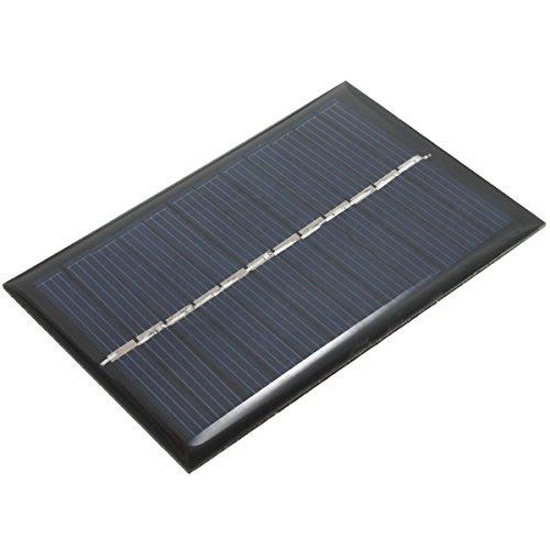 Características: (1) 0.6 w-0.7 w, eficacia el = 17% de la conversión. (2) Voltaje/corriente de la salida: 6V, 100mA (3) interfaz de salida: cojín positivo y negativo de un vistazo; (4) Dimensiones: 90 × 60m m (5) uso: luces solares del césped, luces...
