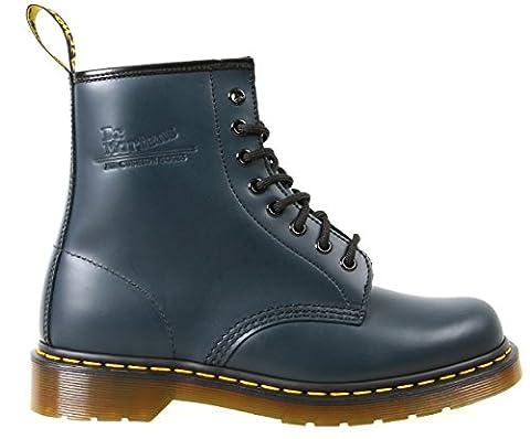 Dr Martens Chaussures en cuir lisse 146–Mixte-Bleu marine - 8 Oeillets Chaussures à lacets - Bleu - Bleu marine,