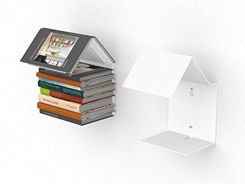 home3000 Bookmark Regal/unsichtbares Bücherregal in Weiss Bücherregal und Lesezeichen zugleich -