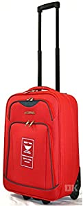 "Ryanair Cabin Approved Lightweight Hand Luggage Suitcases wheeled luggage (20"" (55 x 38 x 20cm), Red MM23)"