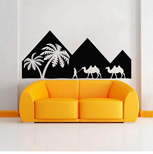 DongOJO Ägyptische Wandtattoo Vinyl Aufkleber - ägyptische ägyptische Wandkunst - Wandbild Art Indoor Home Decor wasserdicht 96x42cm