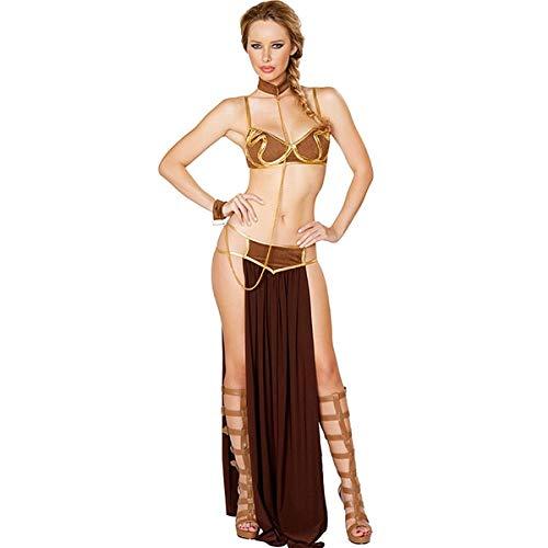 Star Wars Prinzessin Slave Kostüm - MSSJ Erwachsene Frauen Sexy Star Wars