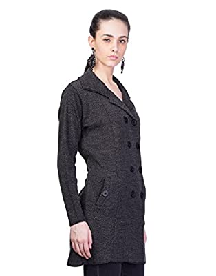 Montrex Black Long Coat For Women