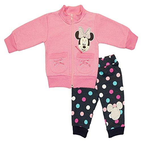 Mädchen- Baby- SPORT-ANZUG GEFÜTTERT Disney Minnie Mouse 2-tlg., Sweat-Jacke mit langer Hose, GRÖSSE 62, 68, 74, 80, 86, 92, 98, 104, Jogging-Anzug zum Wohlfühlen, Freizeit-Anzug Size 80