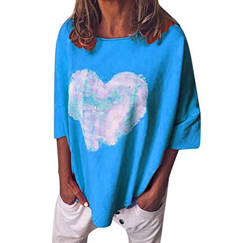 LILICAT_Shirt Damen Kurzarm T-Shirt Beiläufig Groß Größe Shirt Sommer Lose Shirt Tees Kurze Ärmel Lässiges Lose Bluse Oberteil Mädchen Hemd Pulli Pullover Tops