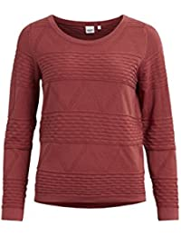 Object Ena Damen Pullover mit Zick Zack Muster | Cropped Oversize Pulli mit aztekischem Muster | Langarm-Shirt Feinstrick