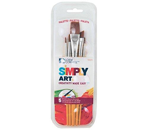 Loew-Cornell Simply Art-Pennello e Palette-Set 5/Pkg, Altri, Multicolore