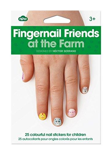 NPW Nagelsticker für Mädchen, zum Aufkleben - Bauernhoftiere, Fingernagel, Freunde, Nageldekoration (Merchandise Pig)