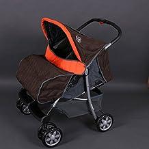 Passeggino fratelli o gemellare arancio Deluxe Tandem - BambinoWorld