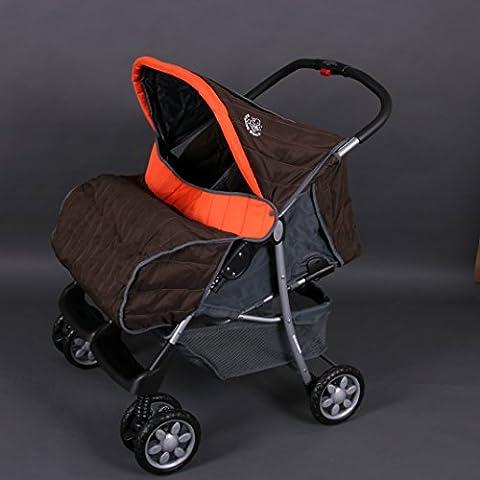 Poussette double twin orange Deluxe Tandem -