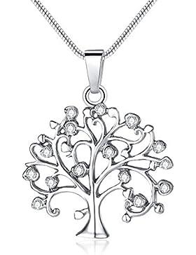 Hängende Halskette Weinlese-Leben des Baums