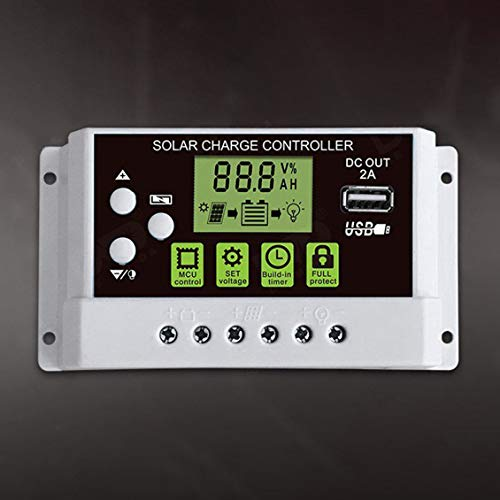ForceSthrength 10A 12V/24V Solar Charge Controller Switch LCD Display for Lithium Battery 12v-ir-system