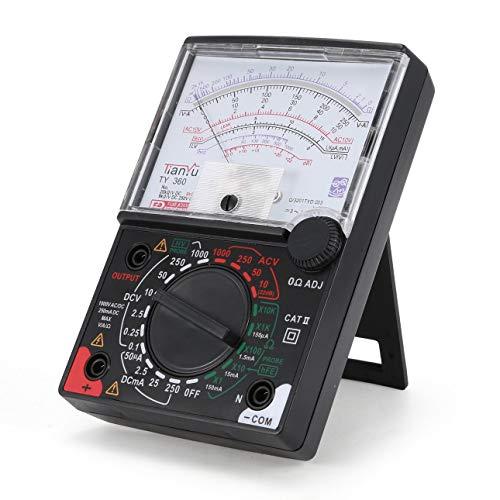 Ballylelly Für TY-360 Zeiger Multimeter AC/DC Voltmeter Amperemeter True RMS Diode Ohm Resistence Tester Daten halten Analog w Prüfkabel