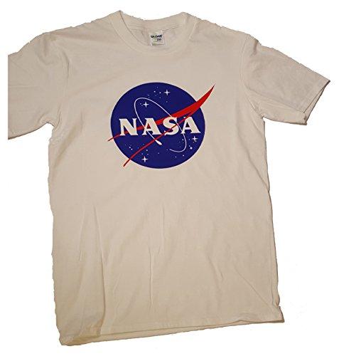 NASA Meatball Logo Premium Herren T-Shirt (Bekleidungsübertragung Druck) Weiß