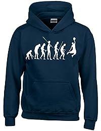 Coole-Fun-T-Shirts Basketball Evolution Kinder Sweatshirt mit Kapuze Hoodie  Kids Gr a28a464e12