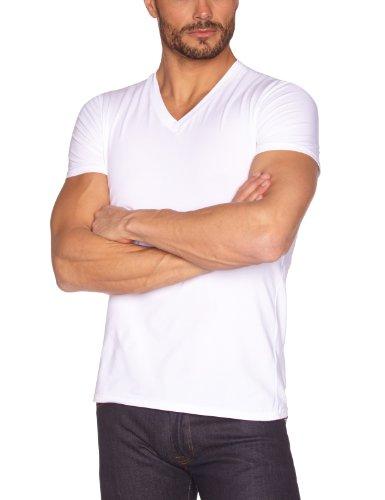 Eminence Herren T-Shirt 14171RDH49539, Einfarbig, Weiß, 2 (Herstellergröße: 2) Preisvergleich