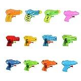 Fun-Here Squirt Guns Fun Jouet d'été pour Les Enfants Adultes, Multicolor Water Gun Blaster dans Les Jouets de Bain Piscine Party Buck d'extérieur en Plein air (Pack DE 12)