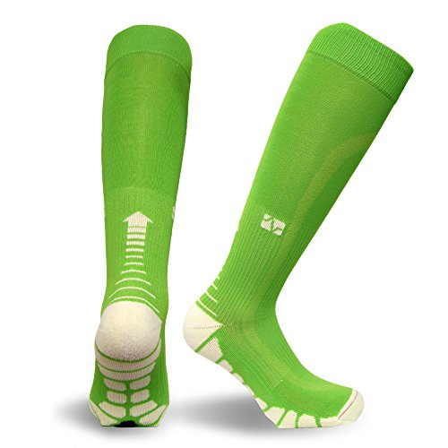 vitalsox Italien–Patentierte Abgestufte Kompression vt1211Laufen, Training, Race, und Recovery Socken mit geruchsresistent Silber drystat (1-Paar) Medium lindgrün (Compression Smart Sock)