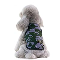 Fmeida Dog Jacket for Puppy, Small Dog Clothes Sleeveless, Dog Shirt Vest for Summer - XL Camouflage2