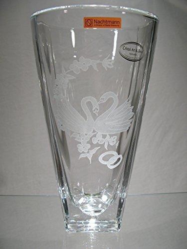 Gravure/Personnalisation - Vase en cristal grave Cygnes...