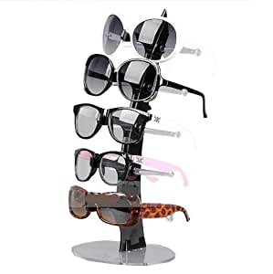 NuoYa005 Balck 5 Pair of Eyeglasses Sunglasses Glasses Sale Show Display Stand Holde