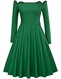 Belle Poque Vestido oscilante de Rockabilly vestido años 50 Una línea de vestidos vintage