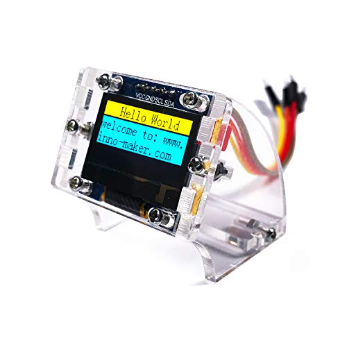 0 96 Inch I2C IIC Serial 128x64 OLED Module LCD Display 4 Pin Font Color  Yellow&Blue for Raspberry Pi Zero, Zero W, 3B, 3B+, STM32, Ardunio,