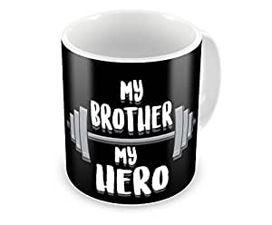 Ulta Anda Brother Is A Hero - Big Bro Love - Siblings Life - Thank You Bhai Quote - You Are Best Coffee Mug, 12 Oz, Perfect for Coffee and Tea Lovers