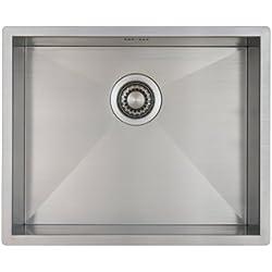 Evier cuisine 1 bac Mizzo Design 5040 - Evier inox 1 bac 50 cm - Approprié pour montage sous plan et affleurant (50 cm)