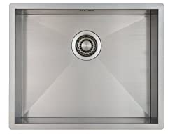 Kitchen Sink Mizzo Design - One/Single Bowl Square Stainless Steel Kitchen Sink- For both undermount and flushmount installation - Satin finish