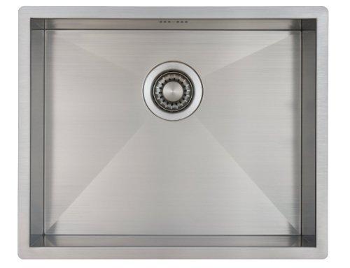 Lavello da cucina in acciaio inossidabile / lavandino MIZZO Quadro 50-40 a incasso / base - lavello quadrato in acciaio inox / lavabo 544 x 444 mm - raggio interno da 0 mm