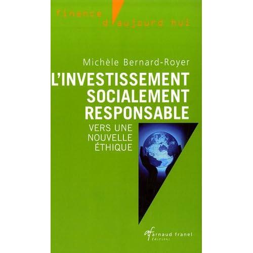 L'investissement socialement responsable : Vers une nouvelle éthique