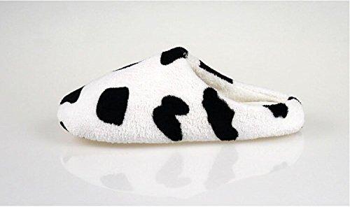 Minetom Hiver Mignon Style Corail Velours Chaussons Pantoufles Confortables Légers Antidérapantes Pour Maison Bureau Chaud Chaussons EUROPE Taille Vache