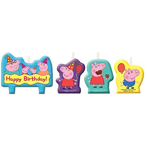 Amscan Peppa Pig Birthday Party Molded Candle Cake Set Decoration, Multicolor, by Amscan