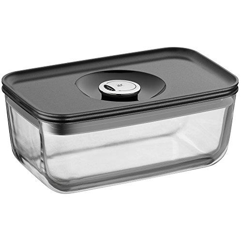 WMF Depot Fresh Vorratsdose, 21 x 13 cm rechteckig, Glas, Vorratsglas, luftdichter Aroma-Deckel, Frische-Ventil, Frischhaltedose zum Vorbereiten, Aufbewahren und Servieren