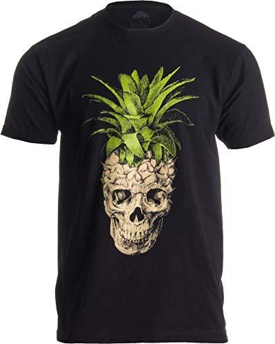 Ann Arbor T-shirt Co. Diseño Extravagante de Calavera con piña...